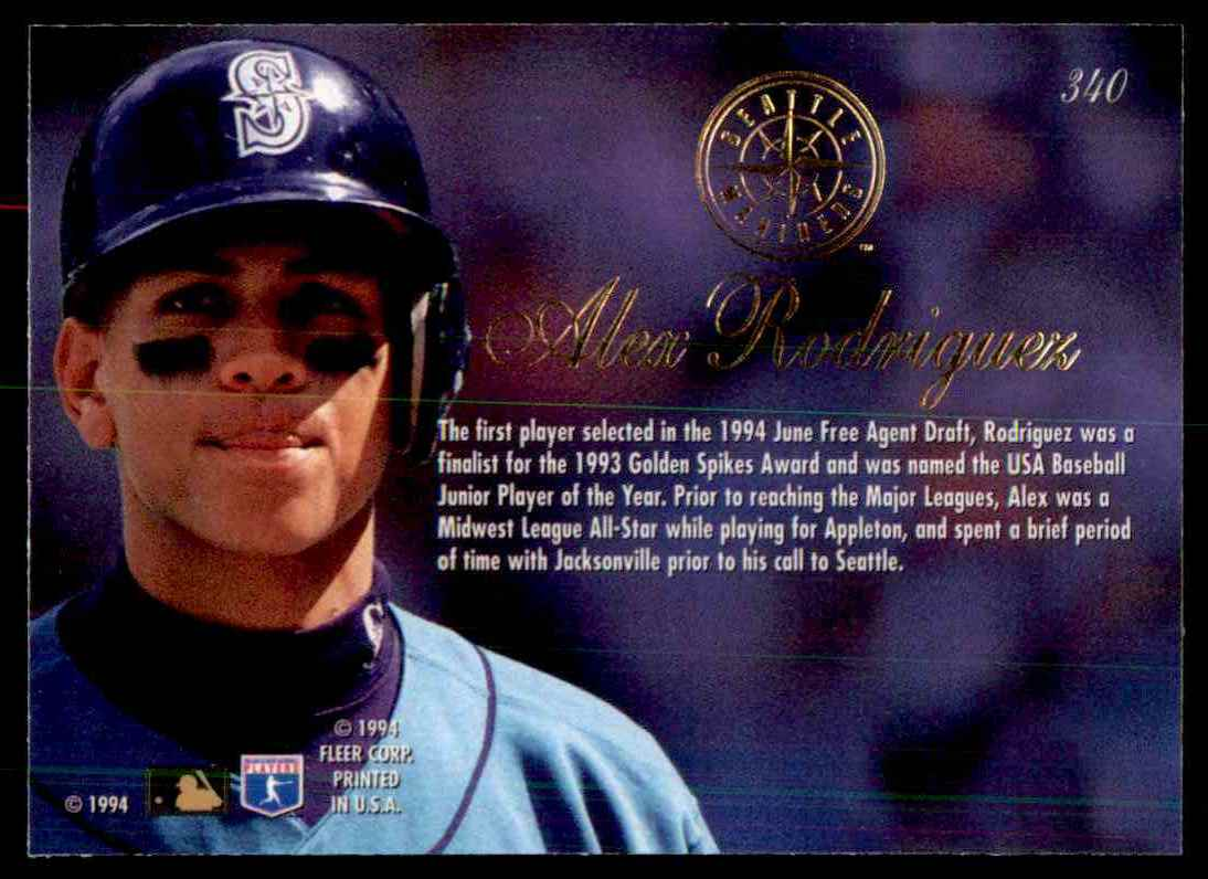 1994 Flair Alex Rodriguez 340 On Kronozio