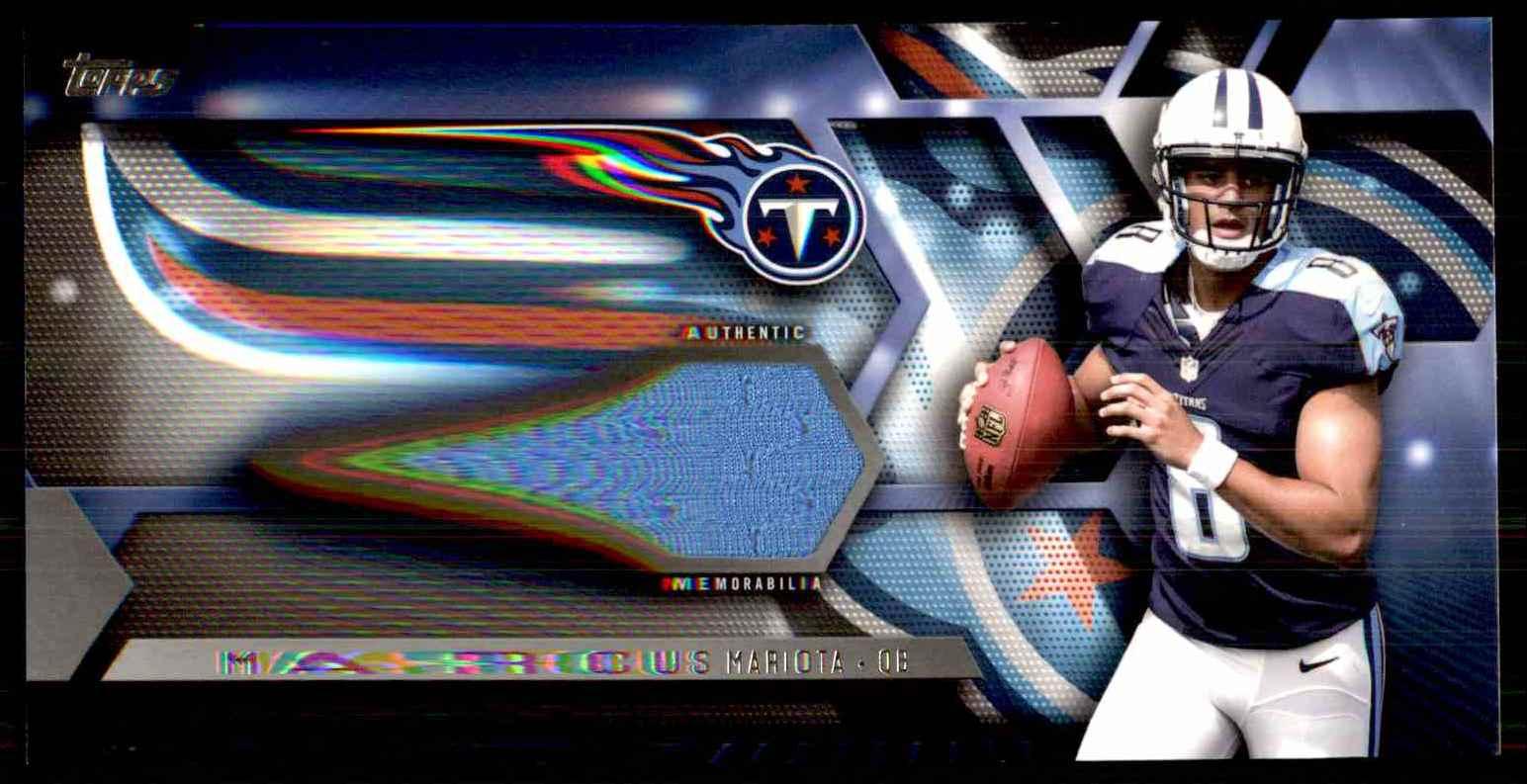 2015 Topps Relics Marcus Mariota #TRMM card front image