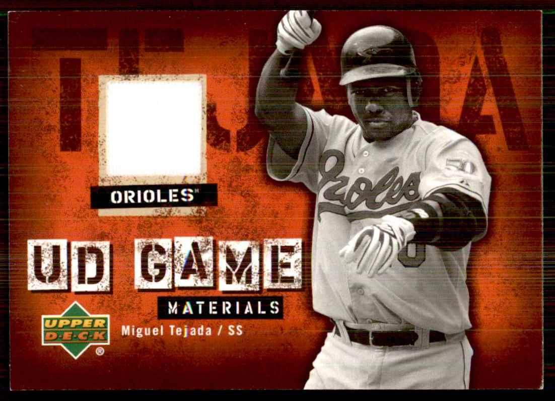 2006 Upper Deck UD Game Materials Miguel Tejada Pants S1 #TE card front image