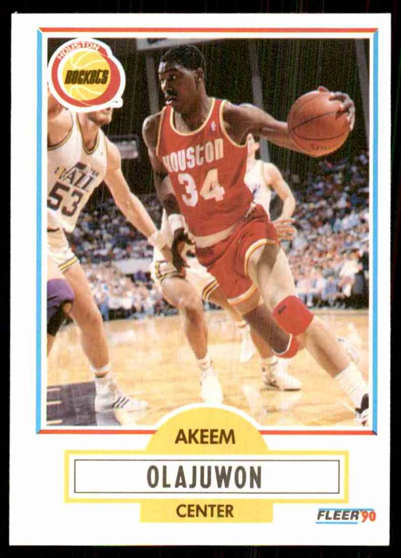 1990-91 Fleer Hakeem Olajuwon #73 card front image