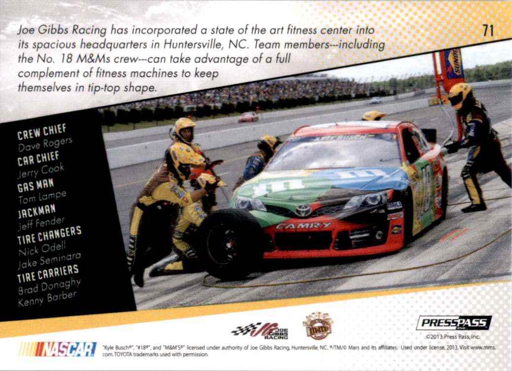 2014 Press Pass Kyle Busch's Car Gc #71 card back image