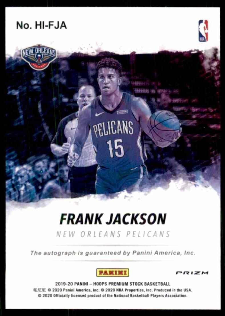 2019-20 Hoops Premium Stock Hoops Ink Frank Jackson #12 card back image