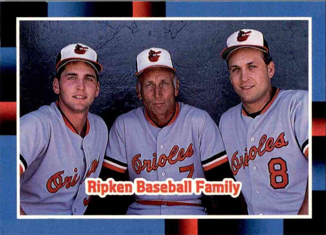 1988 Donruss The Ripken Family Billy Ripken Cal Ripken Sr