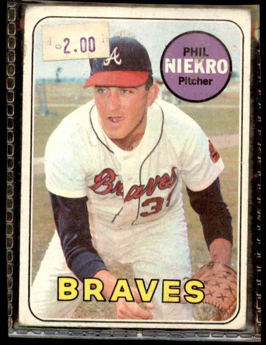 1969 Topps Phil Niekro #355 card front image