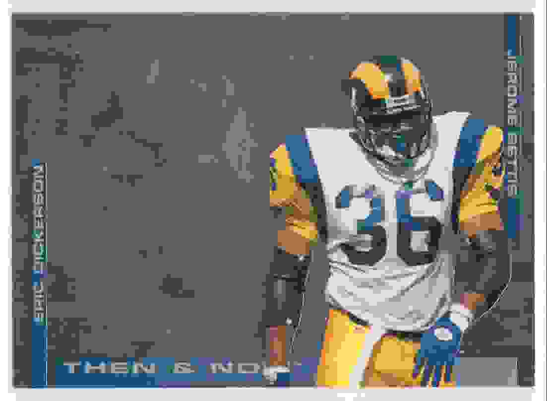 1994 Collectors Choice Then & Now Jerome Bettis #1 card front image