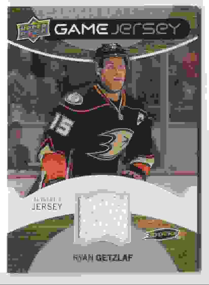 2010-11 Upper Deck Game Jersey Ryan Getzlaf #GJ-RG card front image