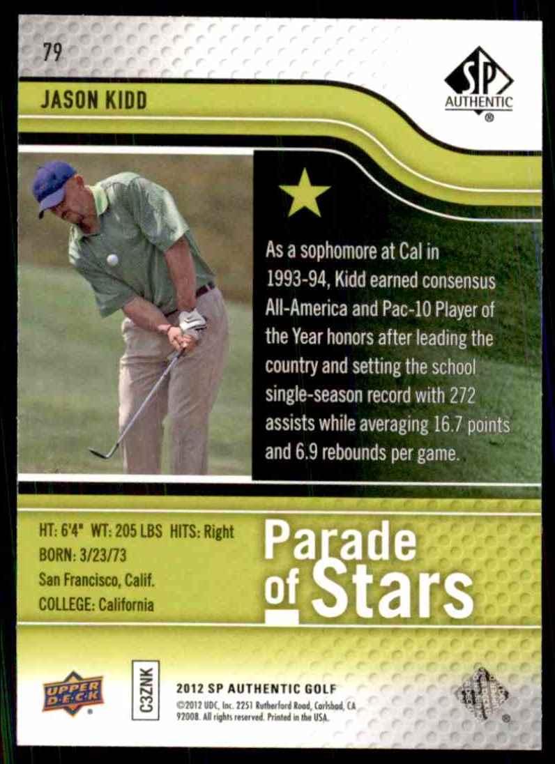2012 SP Authentic Jason Kidd Ps #79 card back image