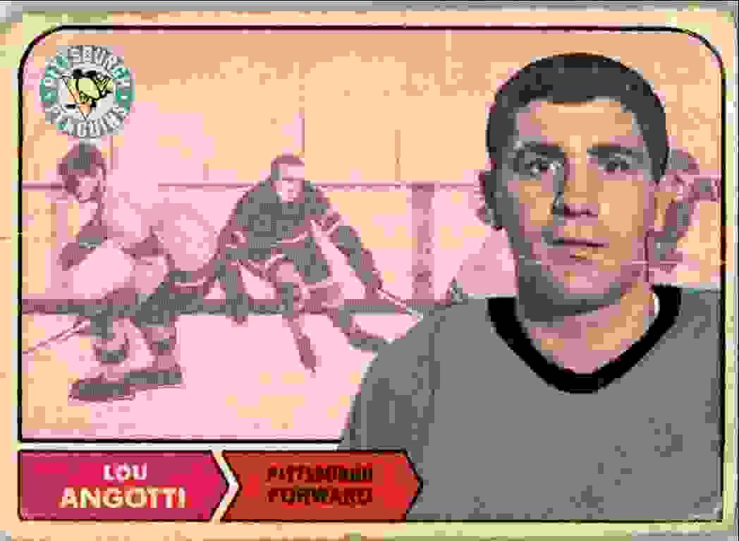 1968-69 O-Pee-Chee Lou Angotti #103 card front image