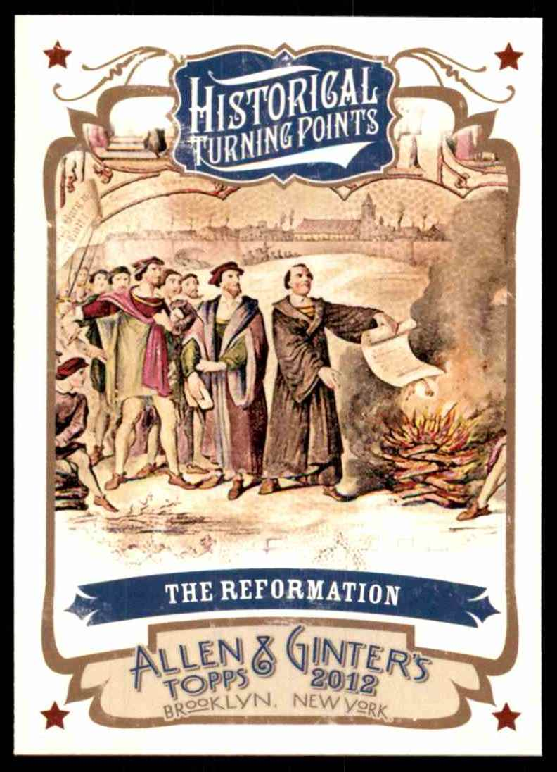2012 Topps Allen And Ginter Historical Turning Points The Reformation #HTP4 card front image