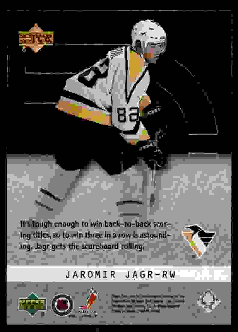 2000-01 Upper Deck Ice Ice Champions Jaromir Jagr #IC6 card back image
