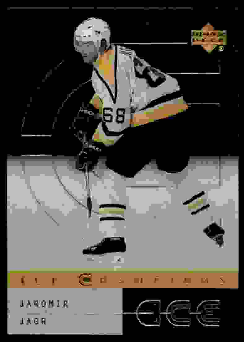 2000-01 Upper Deck Ice Ice Champions Jaromir Jagr #IC6 card front image