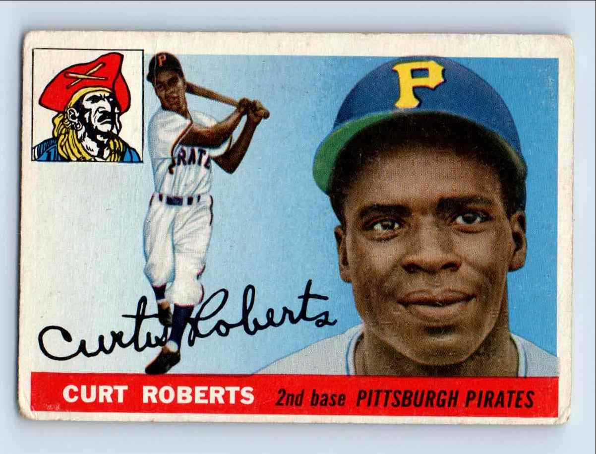 1955 Topps Curt Roberts #107 card front image