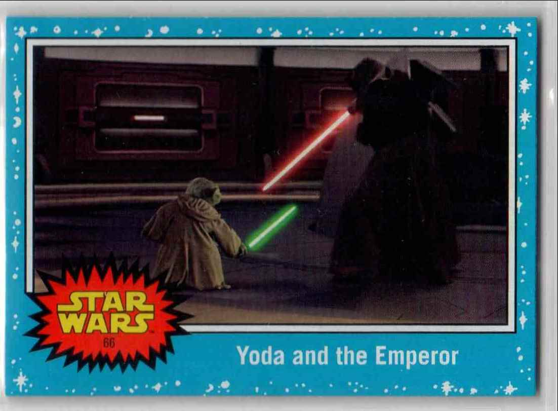 2019 Topps Star Wars Journey To Rise Of Skywalker Yoda And The Emperor #66 card front image