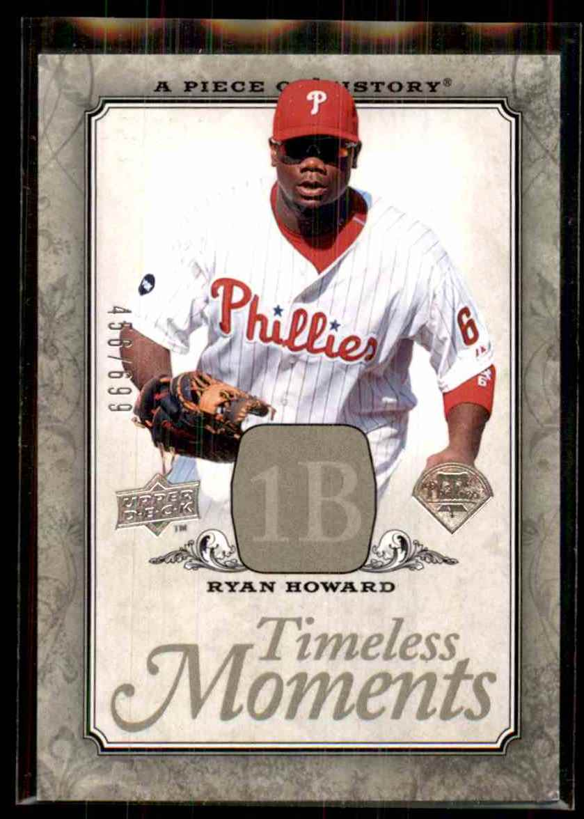 2008 Upper Deck A Piece Of History Timeless Moments Ryan Howard #38 card front image