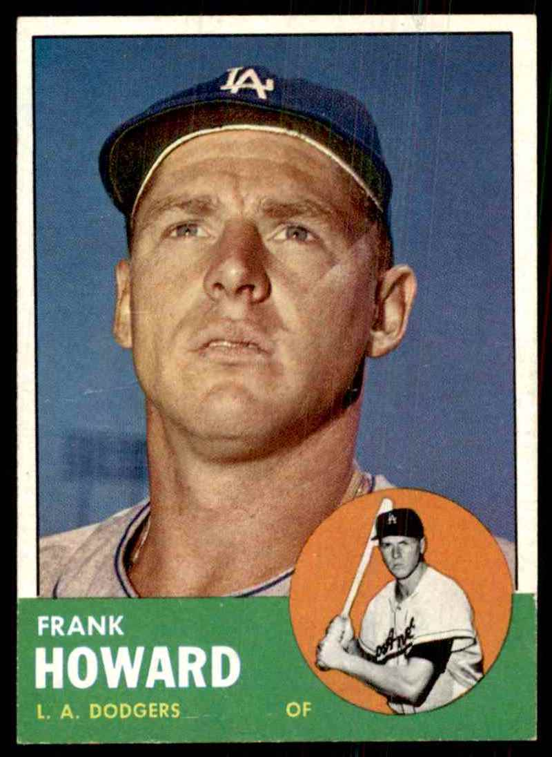 1963 Topps Frank Howard #123 card front image