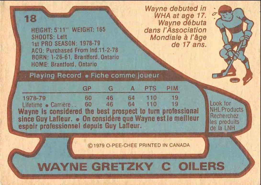 1979-80 O-Pee-Chee Wayne Gretzky #18 card back image
