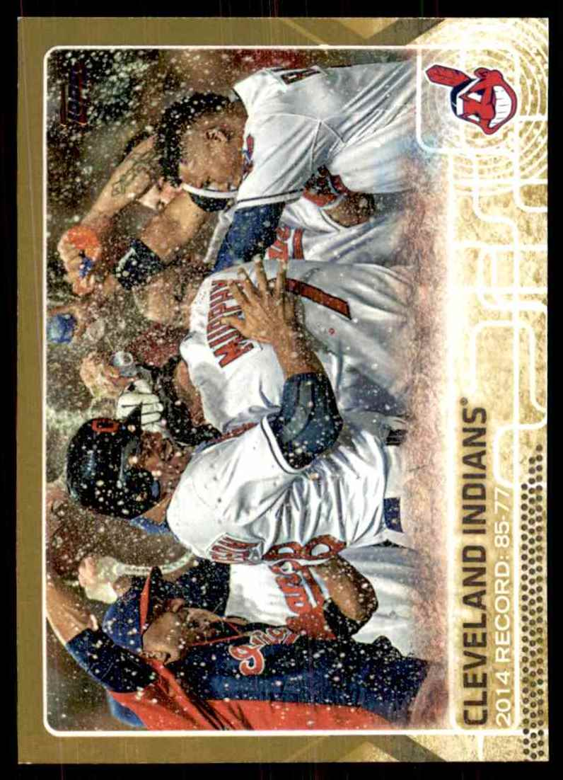 2015 Topps Gold Cleveland Indians #548 card front image