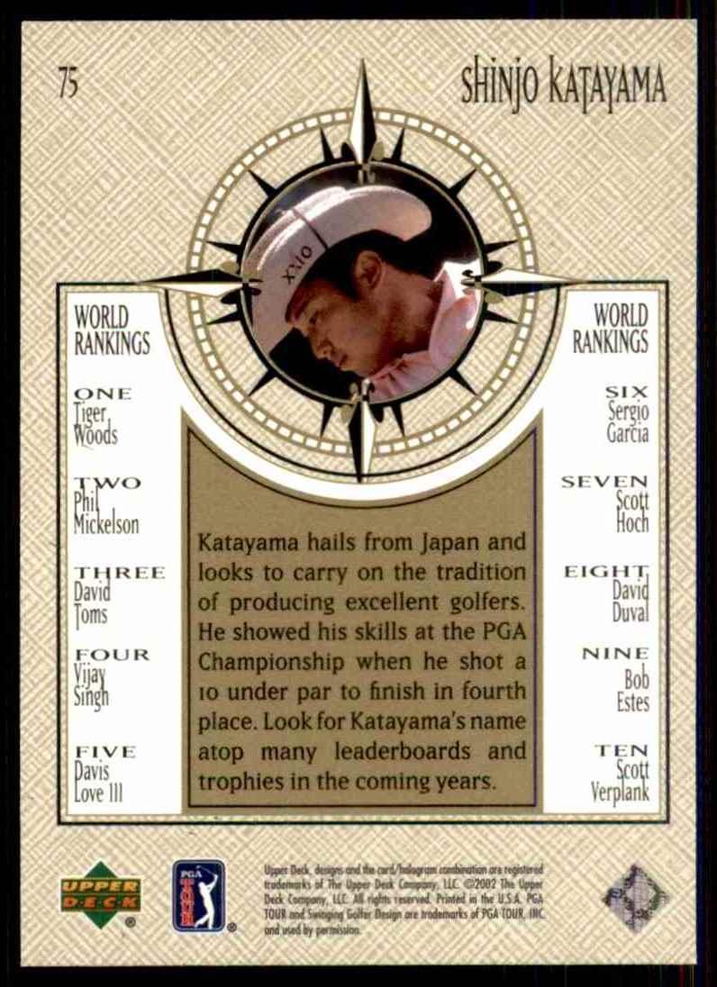 2002 Upper Deck Shingo Katayama Nwo RC #75 card back image