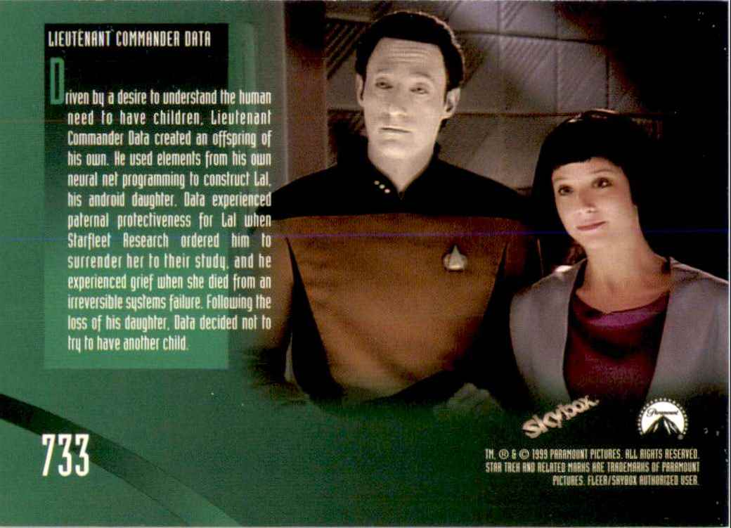 1994 Star Trek The Next Generation Episode Collection Lal #733 card back image