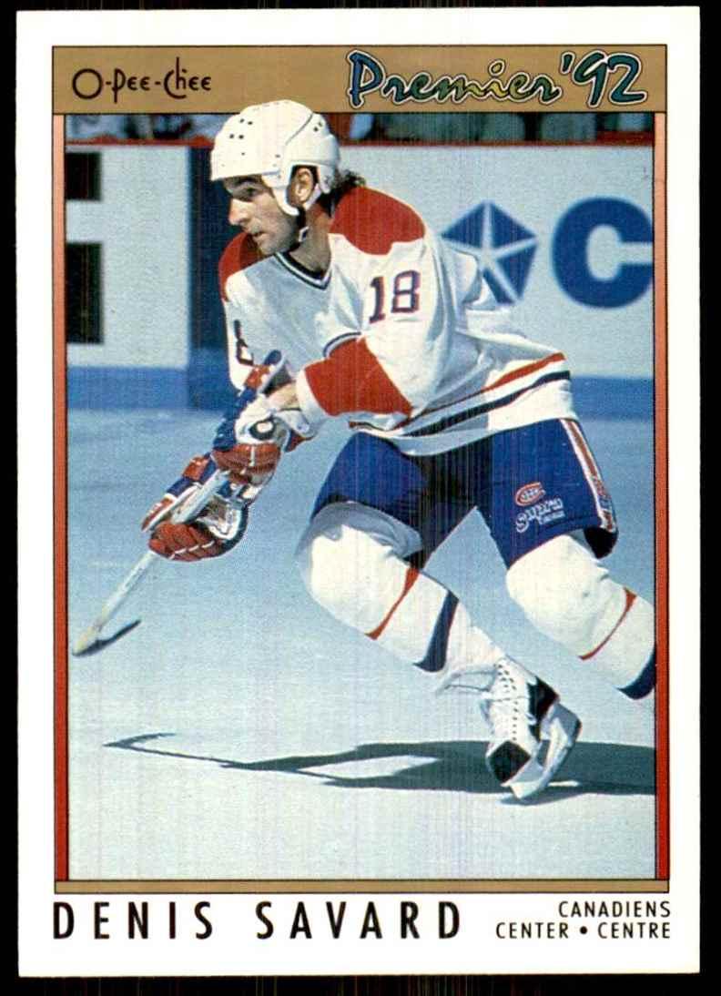 1991-92 OPC Premier Denis Savard #71 card front image
