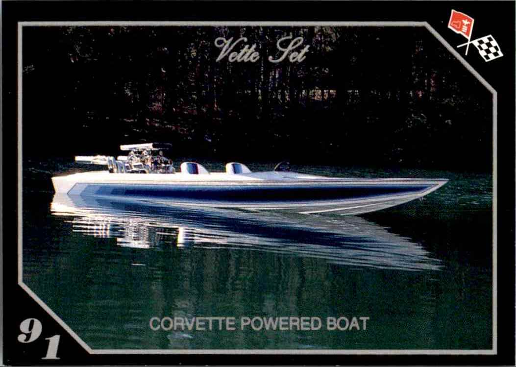 2 Corvette Jet Boat trading cards for sale