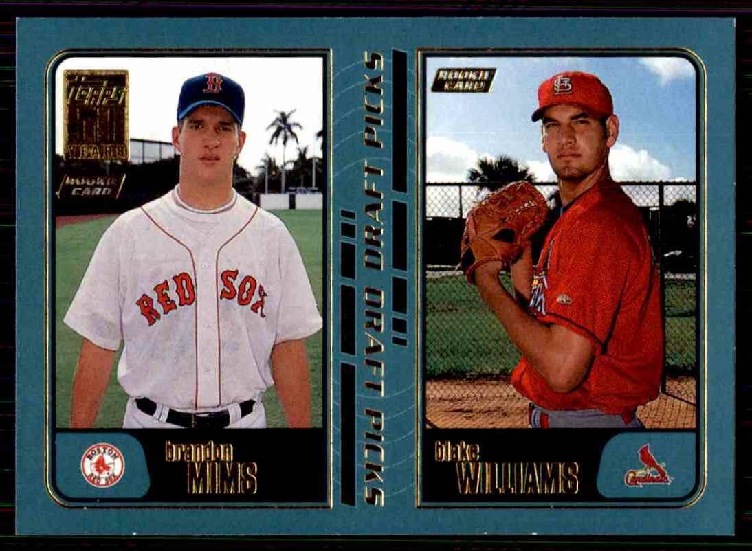 2001 Topps Brandon Mims / Blake Williams #743 card front image