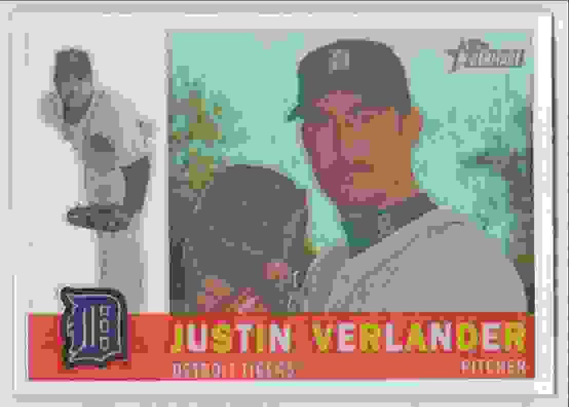 2009 Topps Heritage Chrome Refractor Justin Verlander #C66 card front image