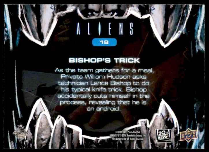 2018 Aliens Bishop Trick's #18 card back image