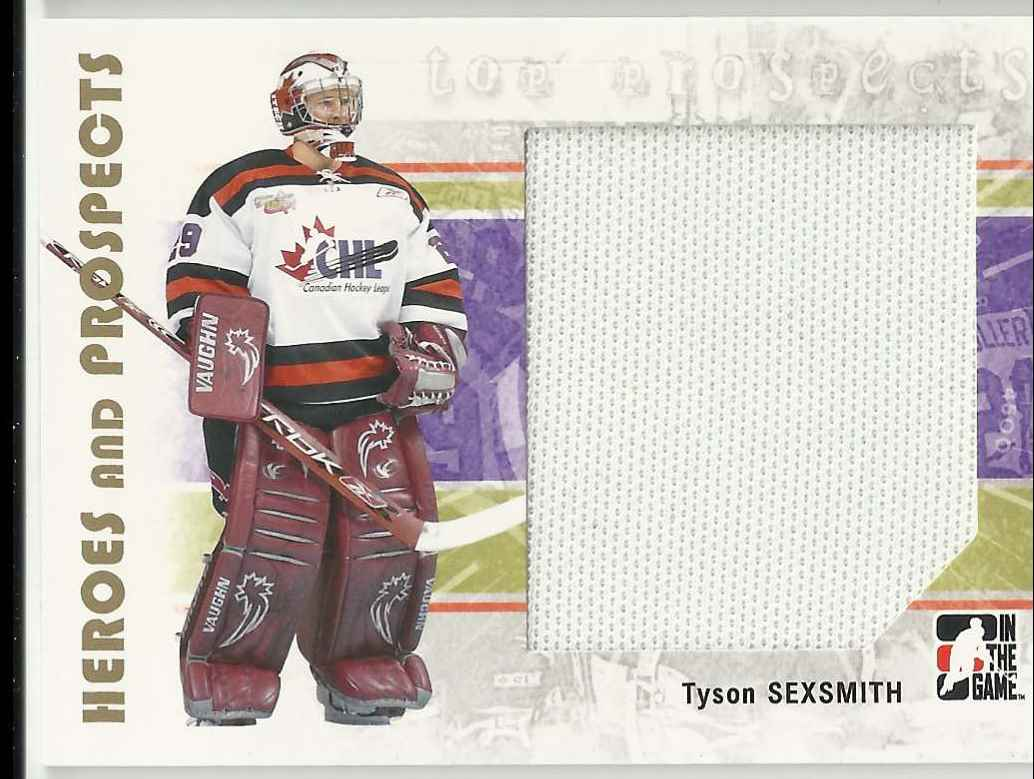 2007-08 In The Game Heroes And Prospects Tyson Sexsmith #128 card front image