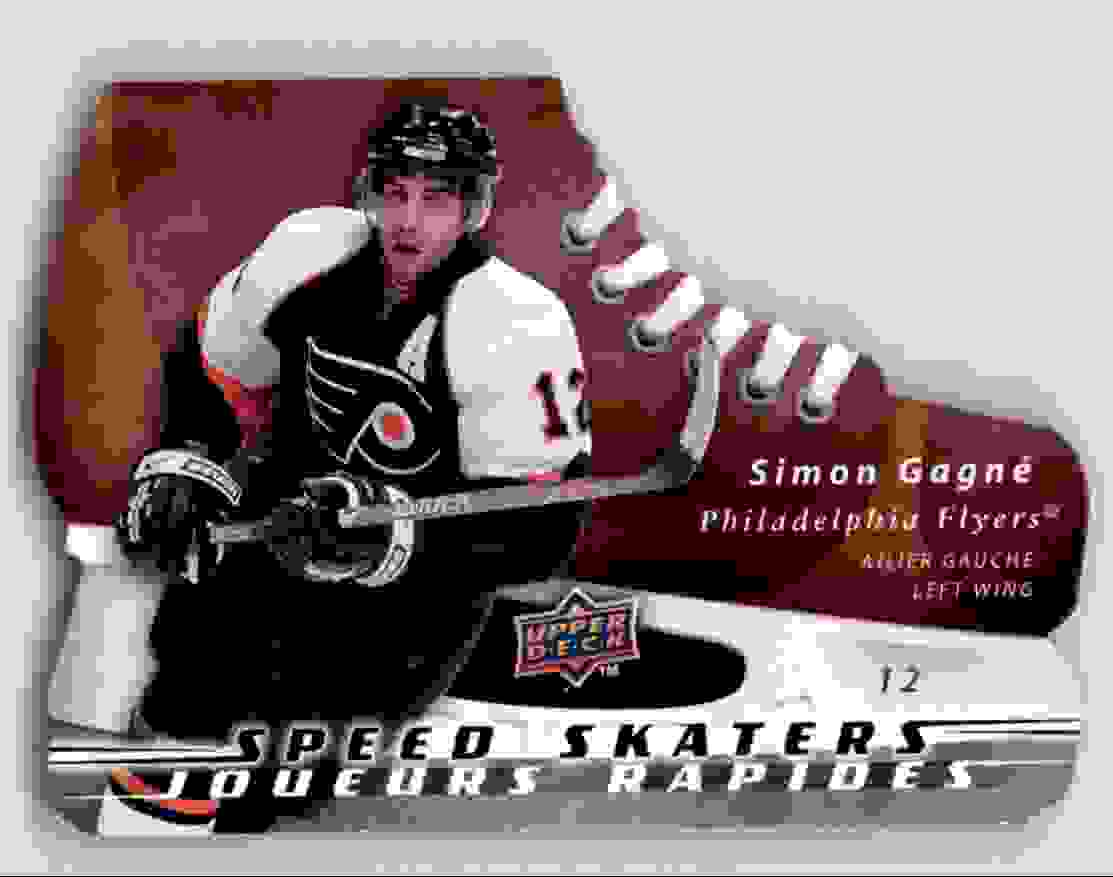 2008-09 Mcdonald's Upper Deck Speed Skaters Simon Gagne #SS7 card front image