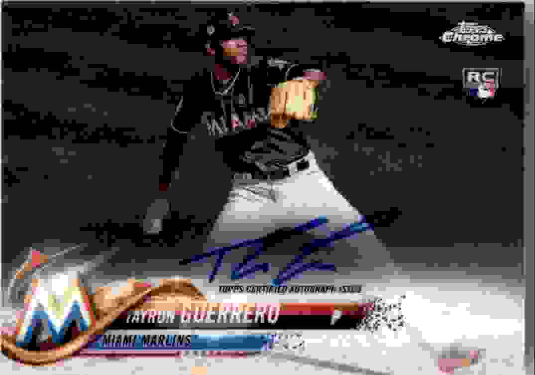 2018 Topps Chrome Base Autograph Tayron Guerrero #RA-TG card front image