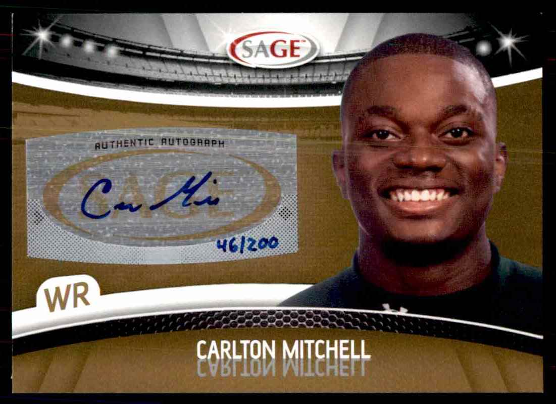 2010 Sage Hit Carlton Mitchell card front image