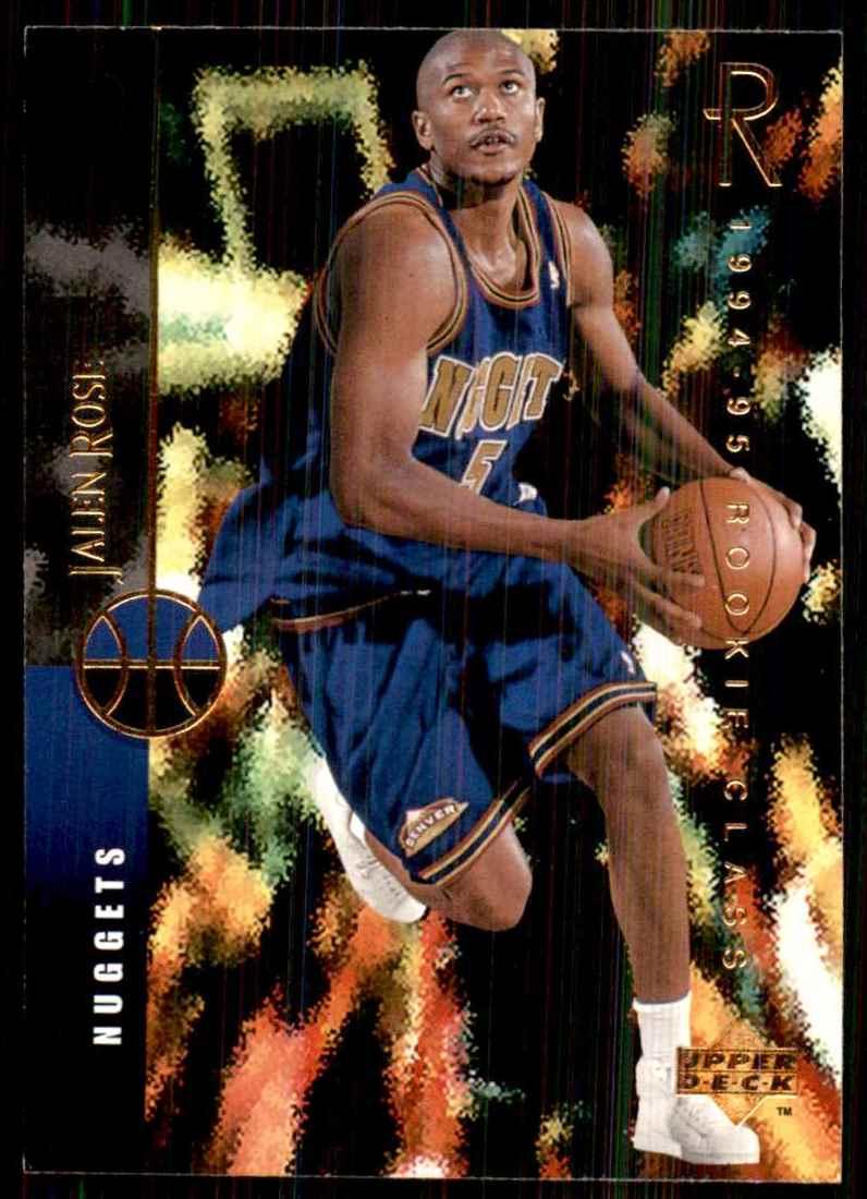1994-95 Upper Deck Jalen Rose RC #159 card front image