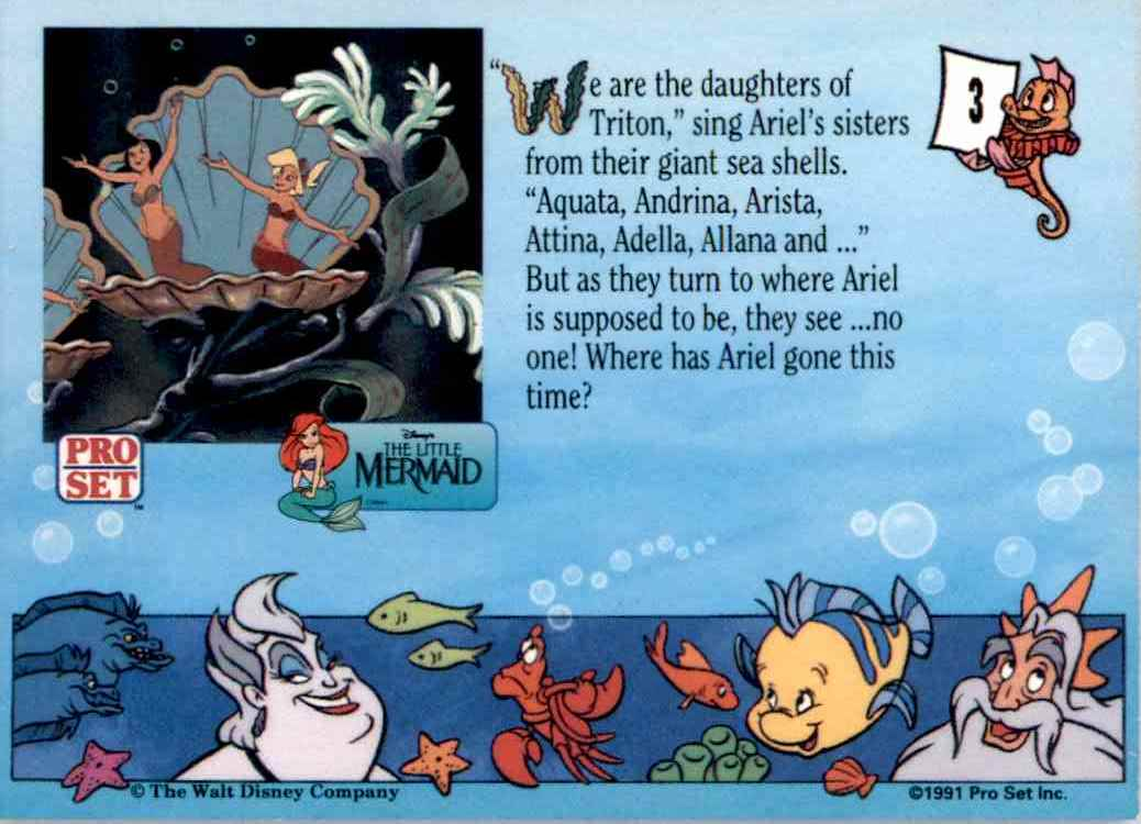 1991 Little Mermaid Daughters Of Triton #3 card back image