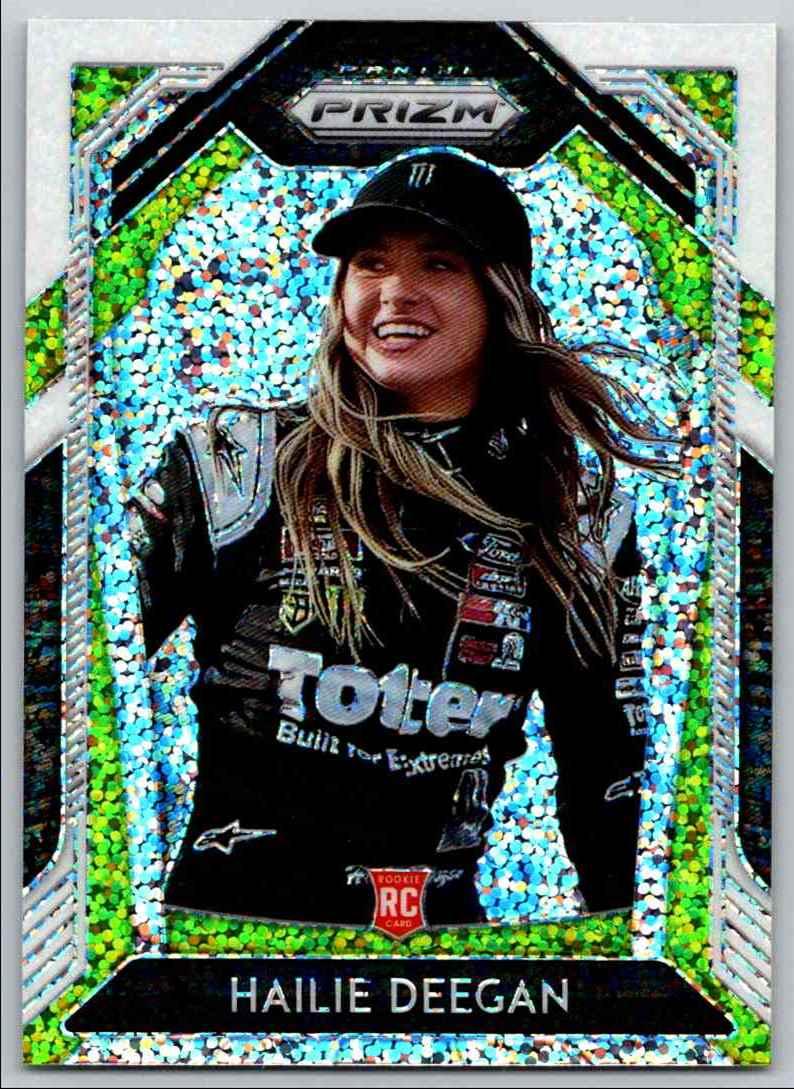 2020 Prizm Racing White Sparkle Hailie Deegan #56 card back image