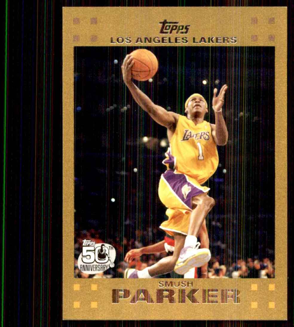 2007-08 Topps Gold Smush Parker #55 card front image