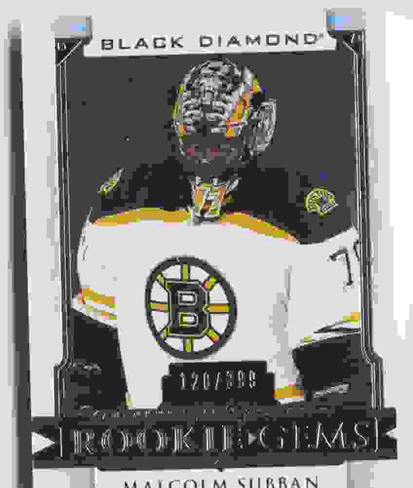 2015-16 Upper Deck Black Diamond Rookie Gems Malcolm Subban #RG-MS card front image