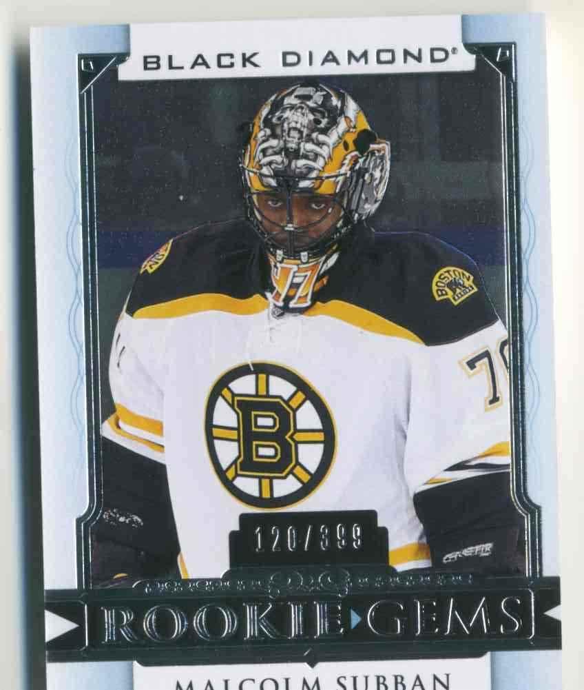 2015-16 Upper Deck Black Diamond Rookie Gems Malcolm Subban #RG-MS card front image