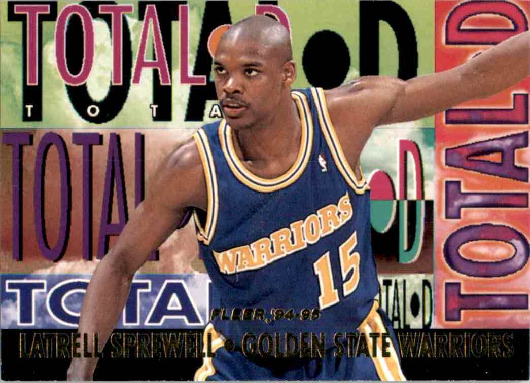 1994-95 Fleer Total D Latrell Sprewell #9 card front image