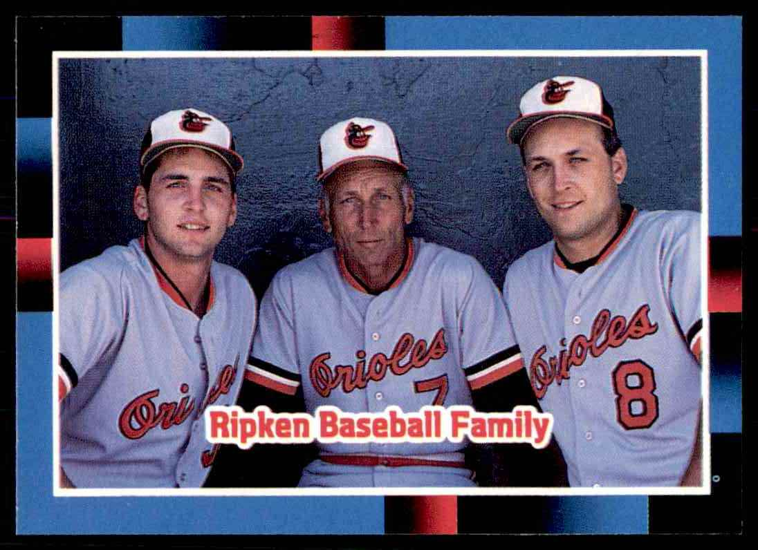 1988 Donruss Mlb Baseball The Ripken Family Billy Ripken