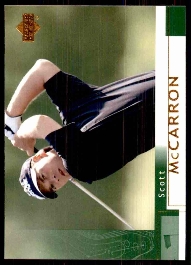 2002 Upper Deck Scott McCarron RC #44 card front image