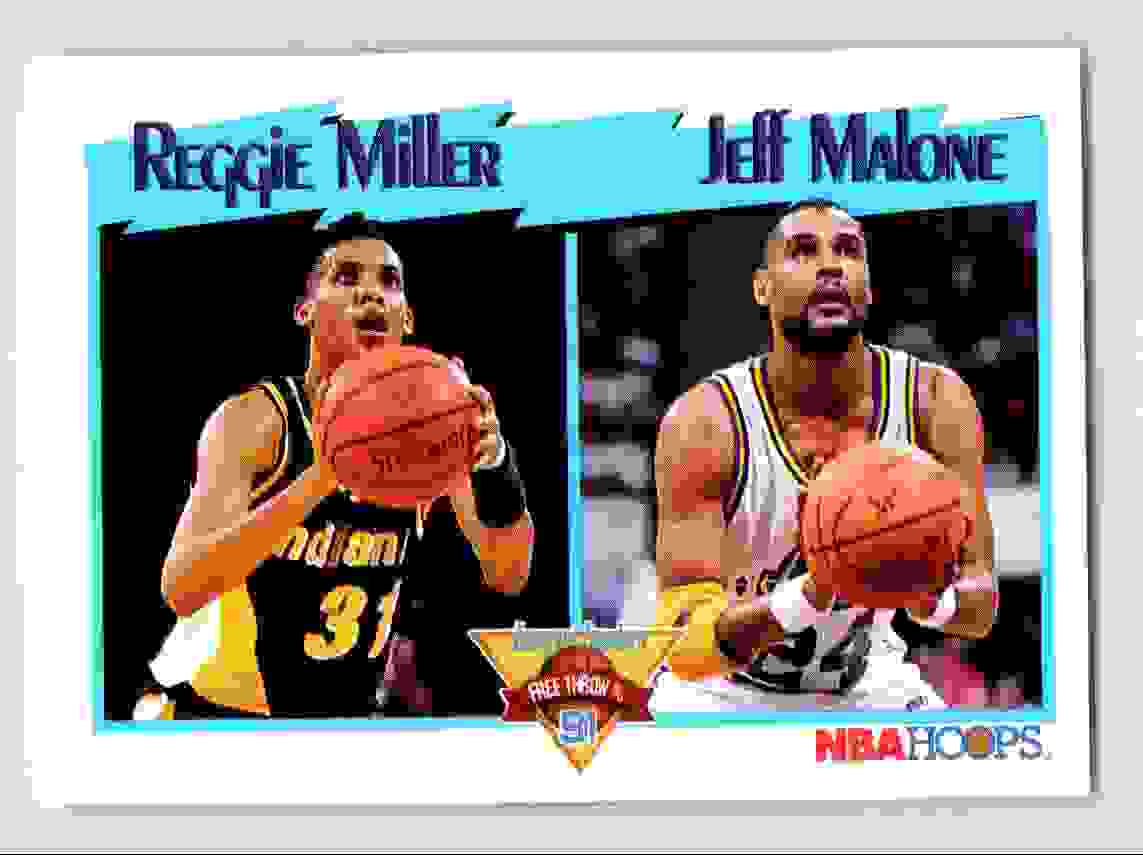 8 Reggie Miller Jeff Malone trading cards for sale