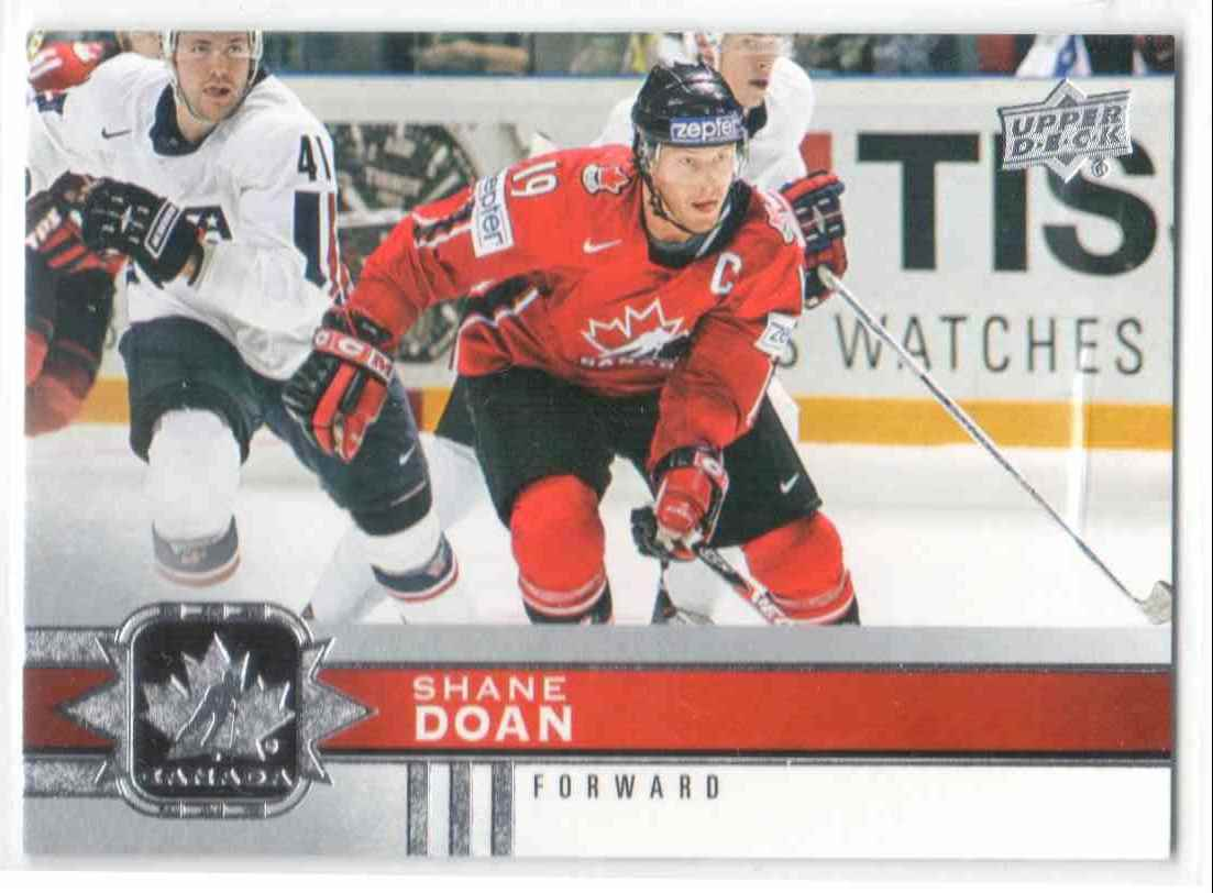 2017-18 Upper Deck Team Canada Canadian Tire Shane Doan #58 card front image