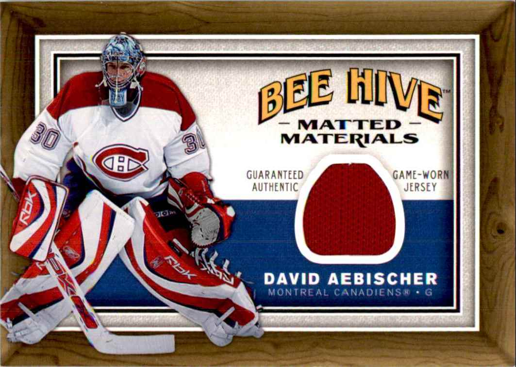 2006-07 Upper Deck Beehive Matted Materials David Aebischer #MM-AE card front image
