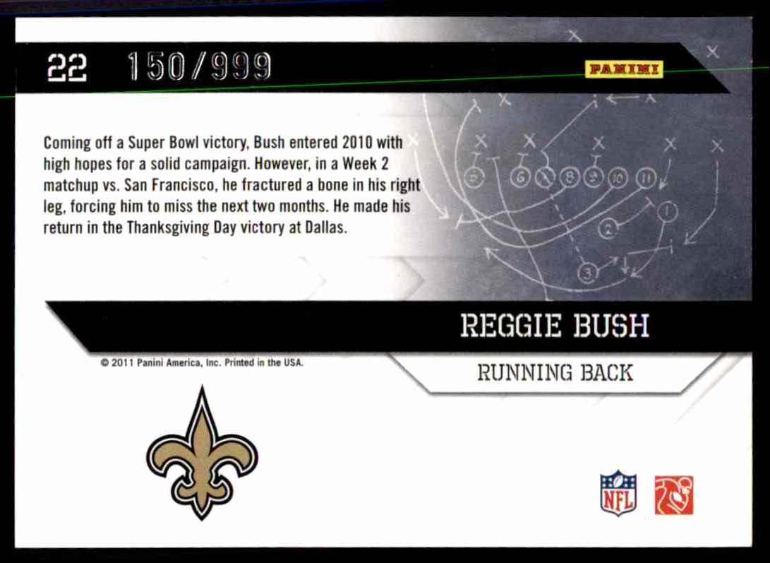 2011 Donruss Elite Power Formulas Gold Reggie Bush #22 card back image