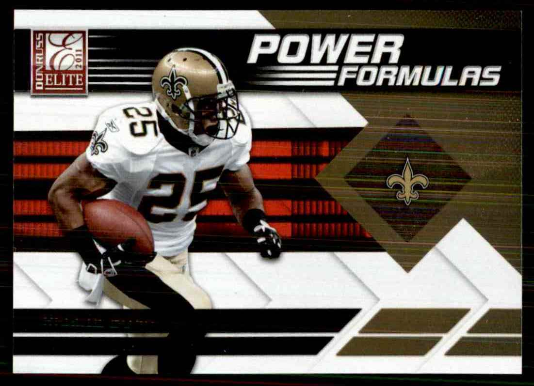 2011 Donruss Elite Power Formulas Gold Reggie Bush #22 card front image
