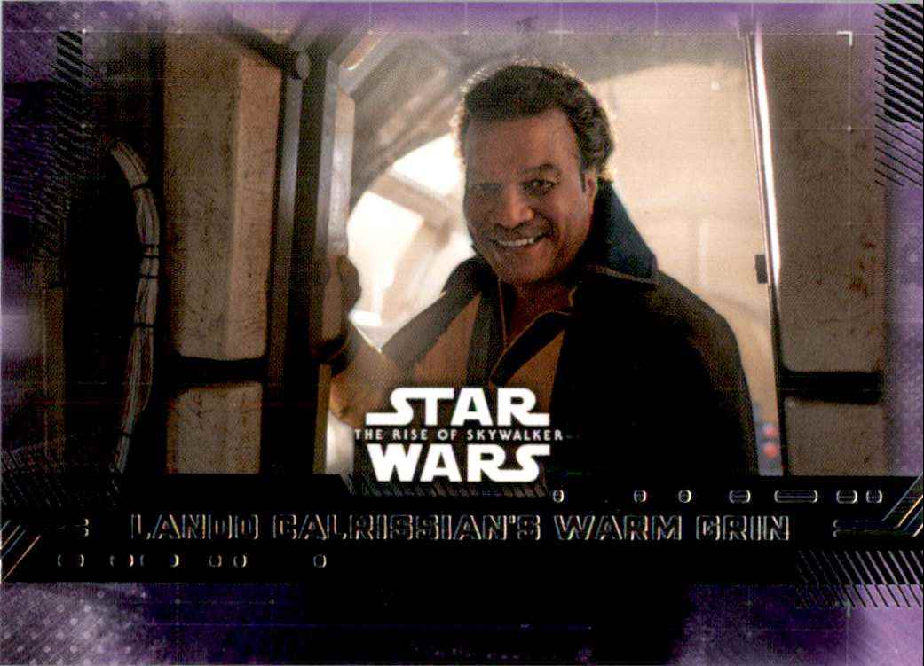 2019 Star Wars The Rise Of Skywalker Series One Purple Lando Calrissian's Warm Grin #84 card front image