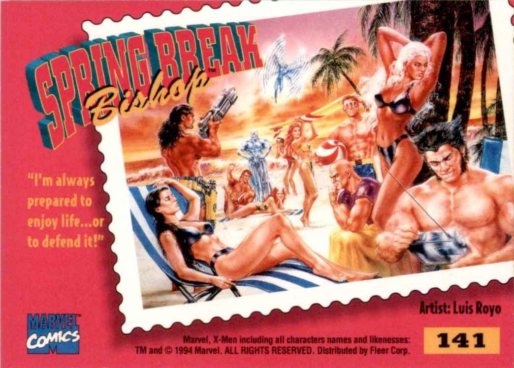 1995 X-Men Ultra Bishop #141 card back image