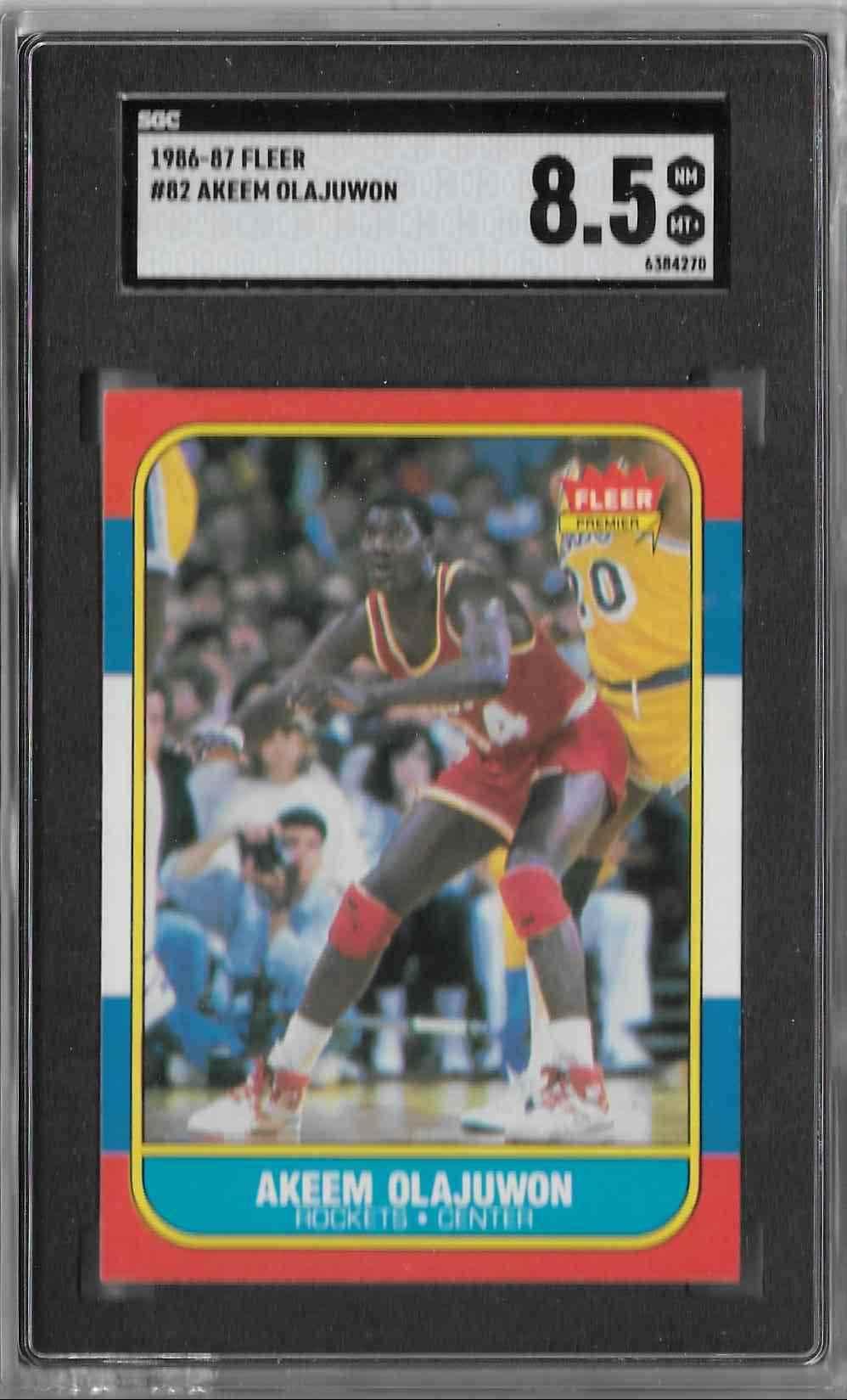 1986-87 Fleer Akeem Olajuwon #82 card front image