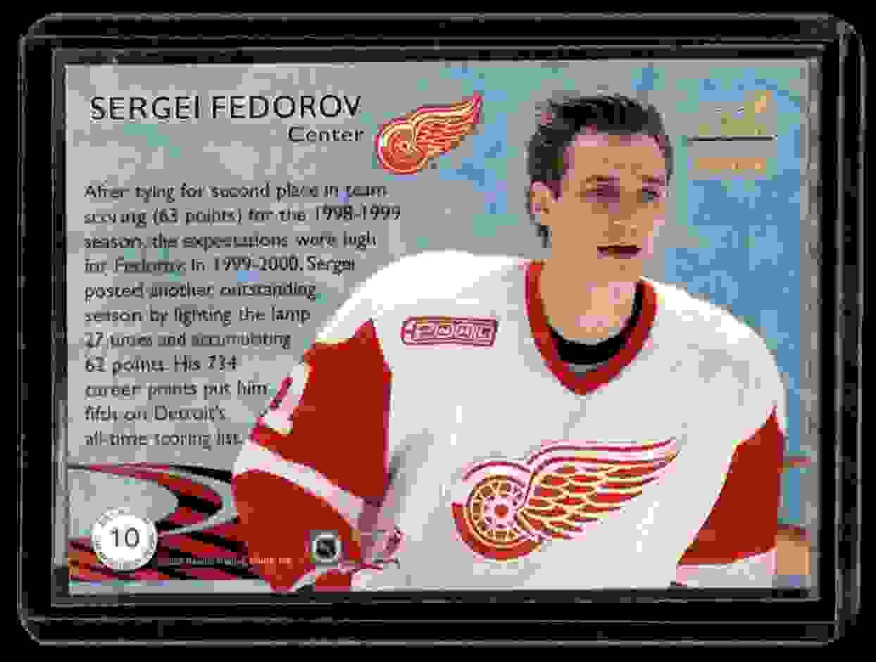 2000-01 Pacific Aurora Championship Fever Sergei Fedorov #10 card back image